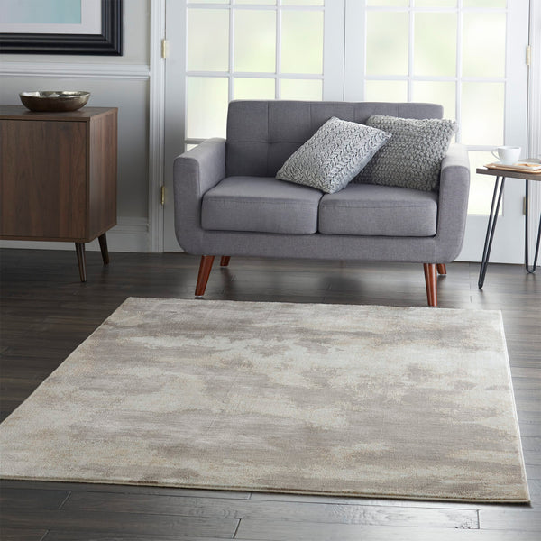 Etching Rug Grey Nourison Etching Rug Grey