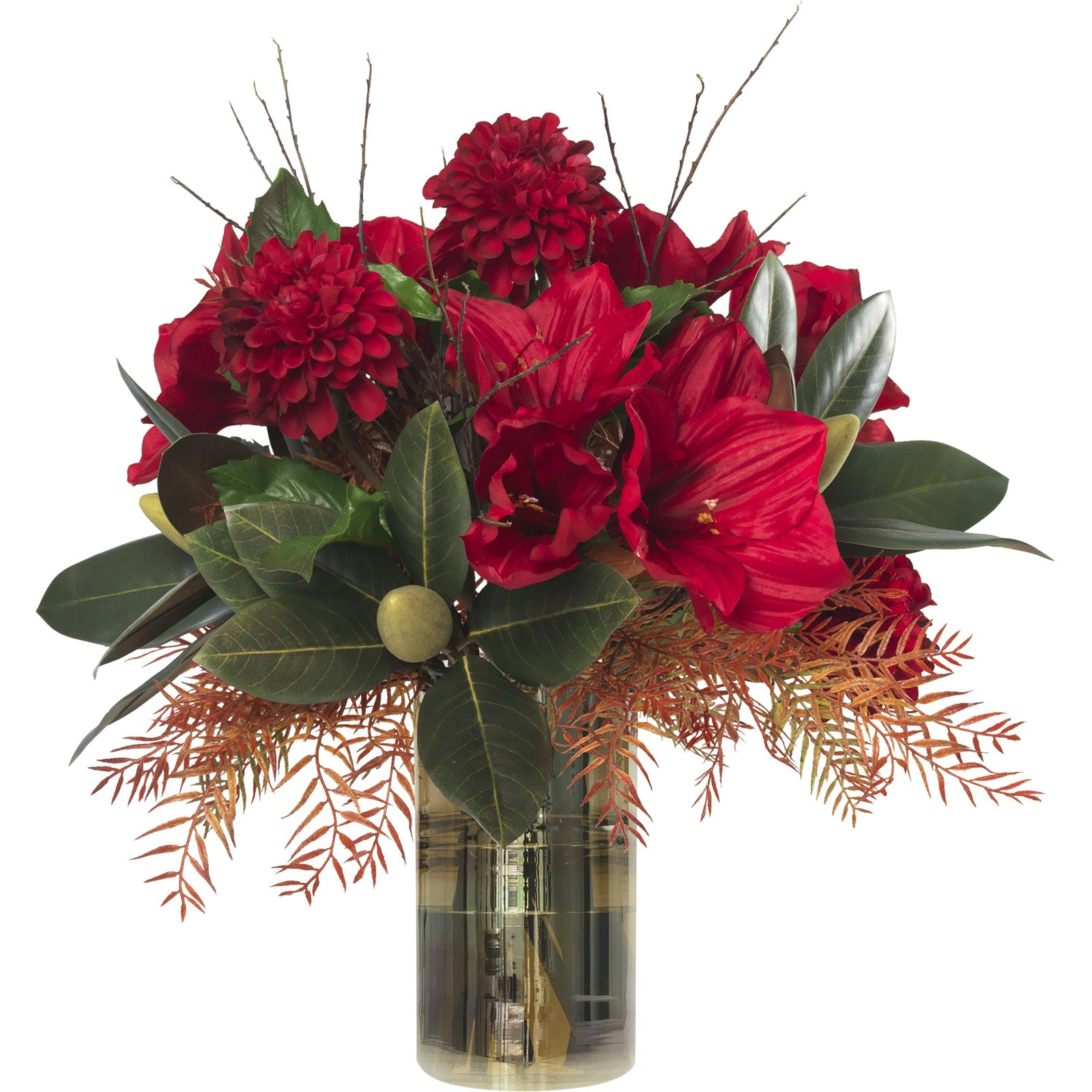 Red Amaryllis & Dahlia Bouquet