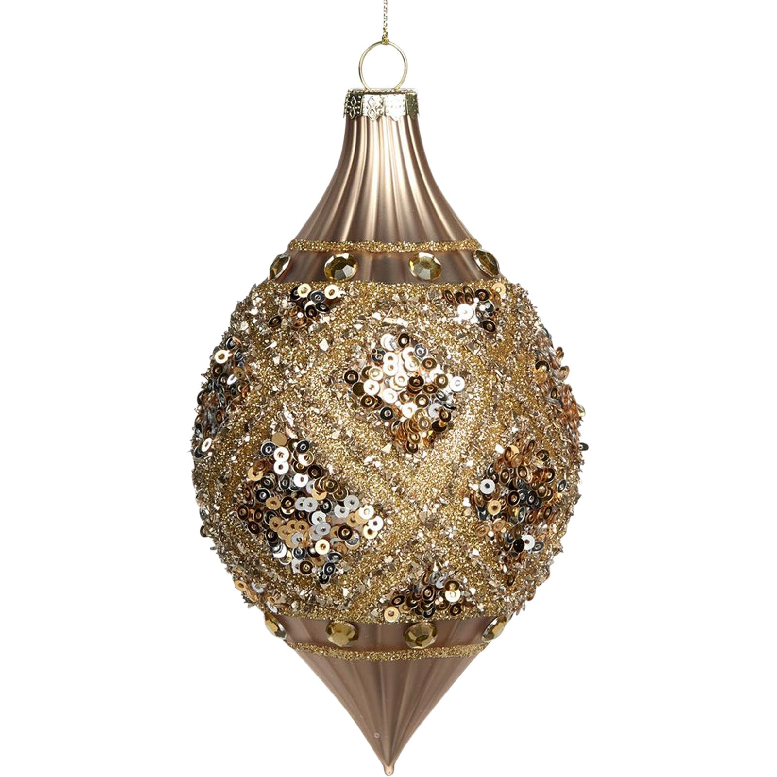 Glitter Teardrop Baublee by LuxDeco -  Christmas tree decoration - LuxDeco.com