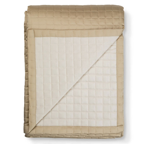 Hunter Quilted Bedspread Maple LuxDeco Hunter Quilted Bedspread Maple