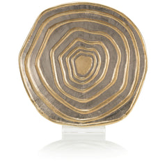 Gold and Silver Banded Charger John-Richard Gold and Silver Banded Charger
