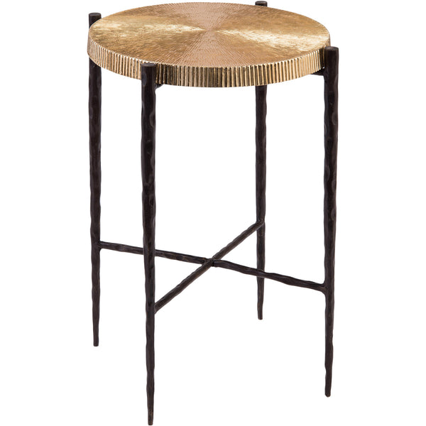 Black Oxidized/Gold Accent Table