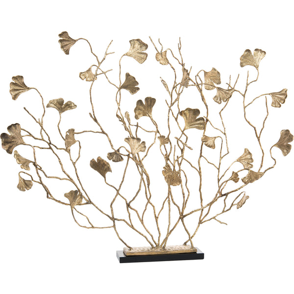 Ginkgo Boughs Decorative Fireplace Sculpture