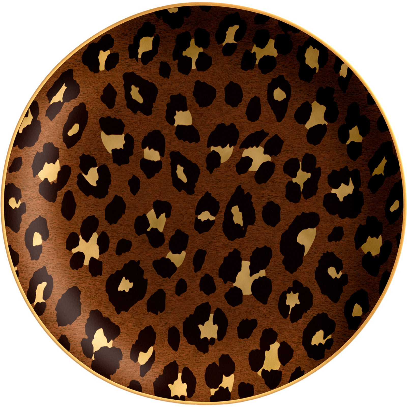 Set of 4 Leopard Dessert Plates
