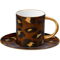 Leopard Espresso Cup and Saucer L'Objet Leopard Espresso Cup and Saucer