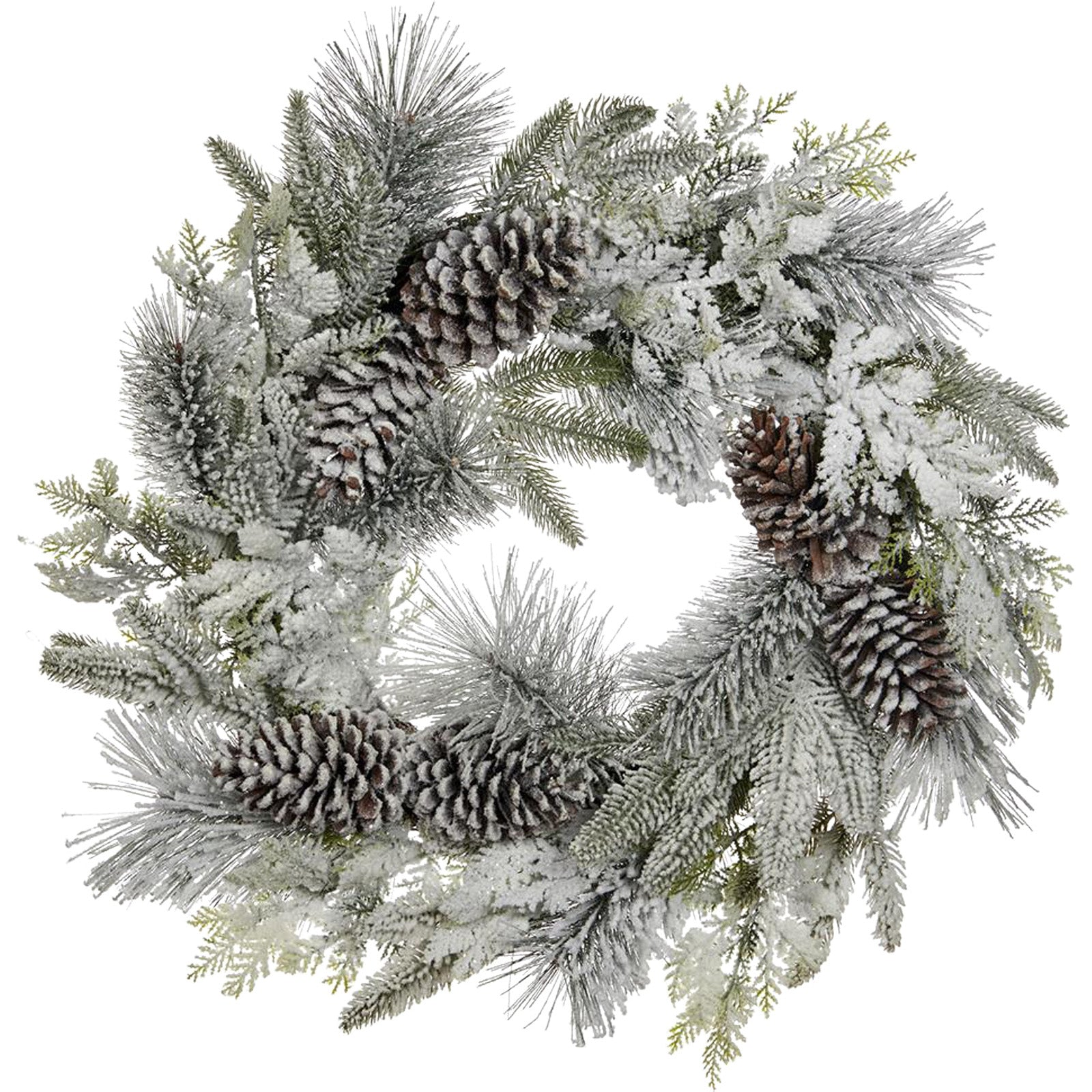 Large Snow Pine Wreath