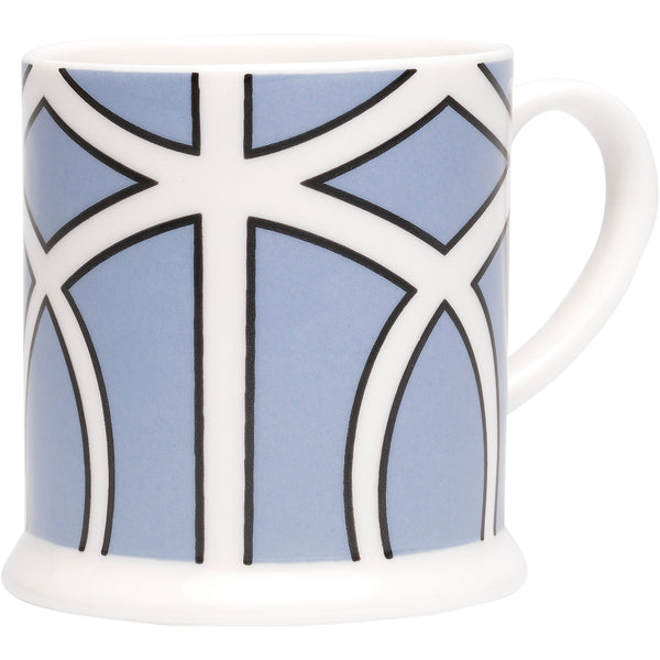 Loop Cornflower Blue and White Espresso Cup O.W. London Loop Cornflower Blue and White Espresso Cup
