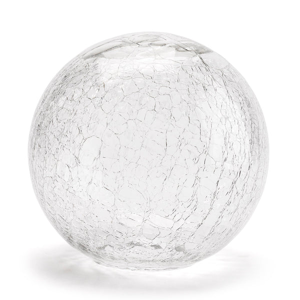 Crackle Glass Decorative Ball LuxDeco Crackle Glass Decorative Ball