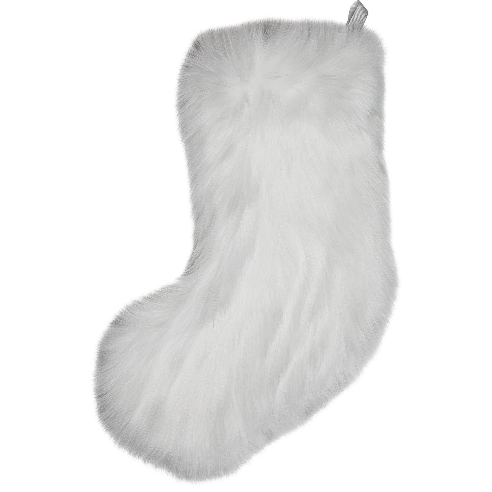 Snow White Faux Fur Christmas Stocking
