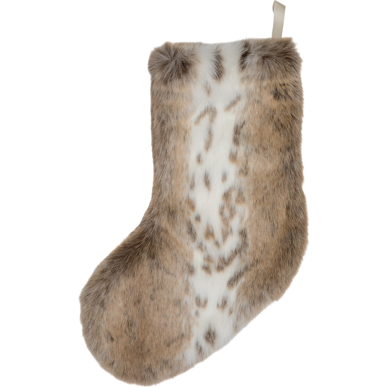 Lynx Faux Fur Christmas Stocking