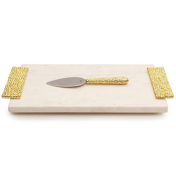 Molten Gold Cheese Board with Spreader