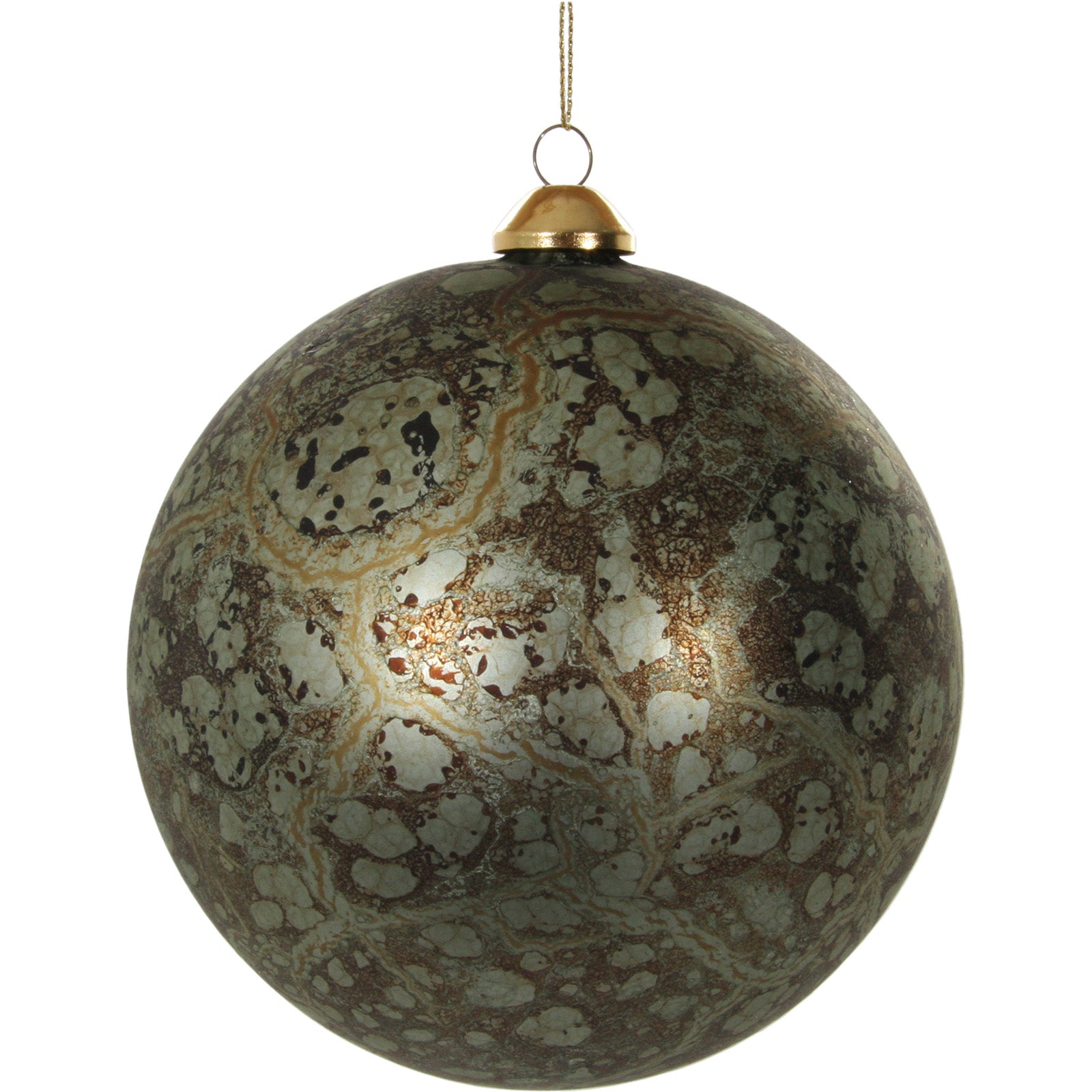 Oily Green Glass Bauble