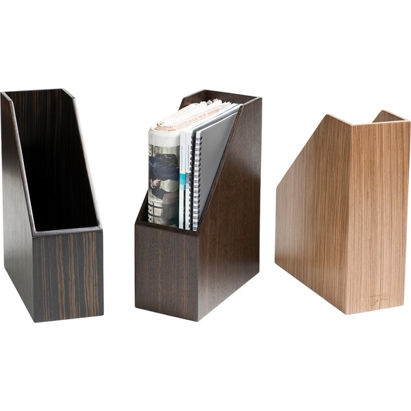 Smoked Oak Magazine Holder iWoodesign Smoked Oak Magazine Holder