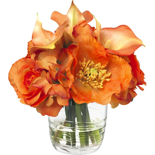 Orange Poppy & Calla Lily Bouquet