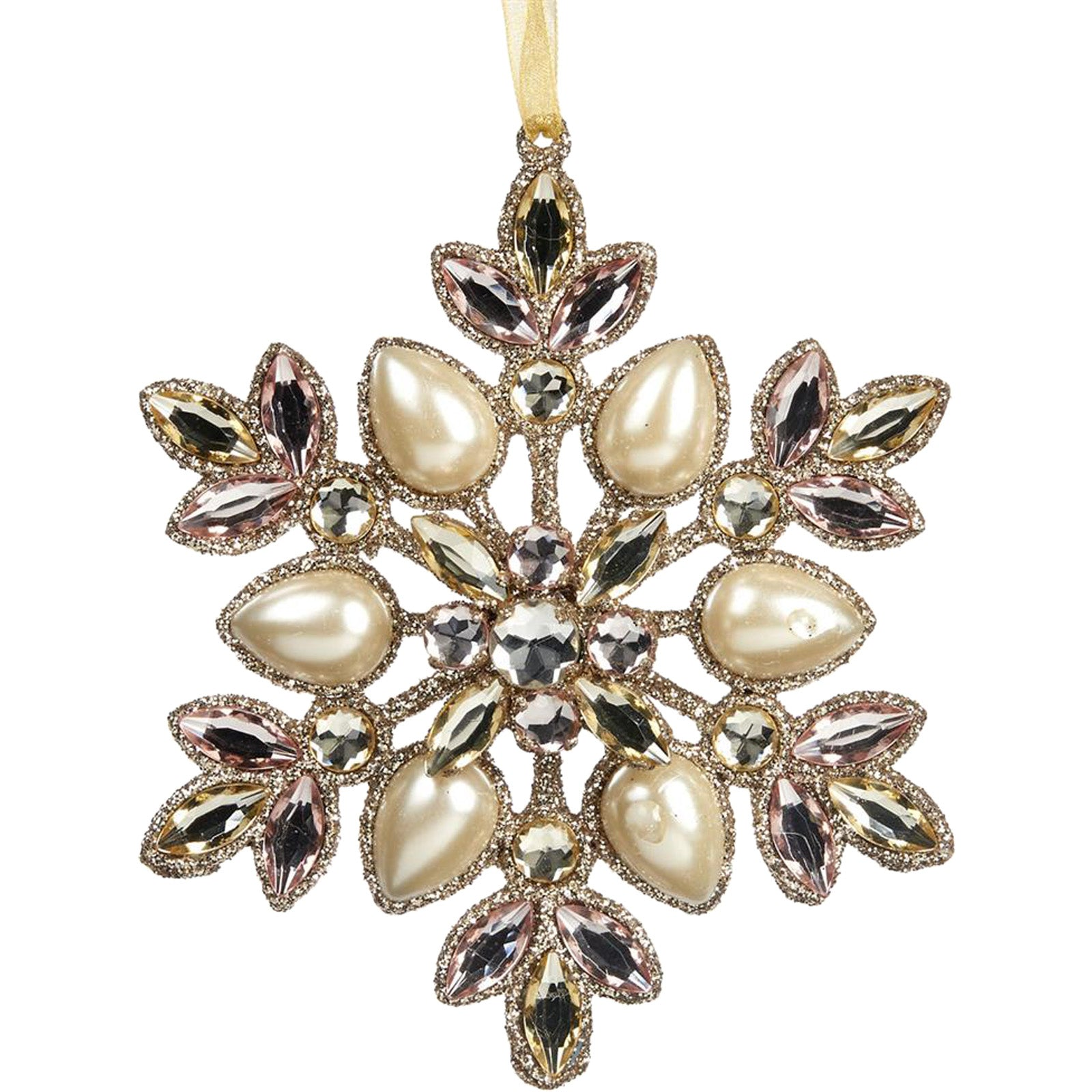 Pearl Snowflake Ornament by LuxDeco — Christmas tree decoration - LuxDeco.com