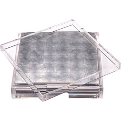 Placebox & Silver Leaf Placemats Posh Trading Company Placebox & Silver Leaf Placemats