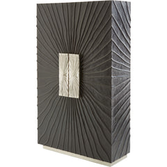 Pleated Tall Cabinet LuxDeco Pleated Tall Cabinet