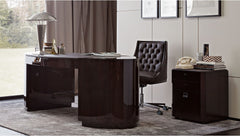 Downtown Leather Top Desk Selva featured