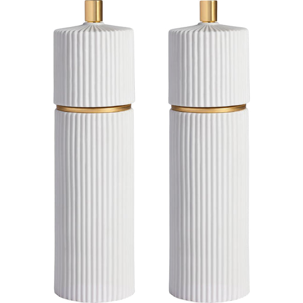 White Ionic Salt & Pepper Mills