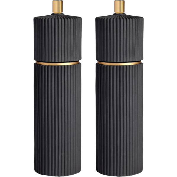 Black Ionic Salt & Pepper Mills L'Objet Black Ionic Salt & Pepper Mills