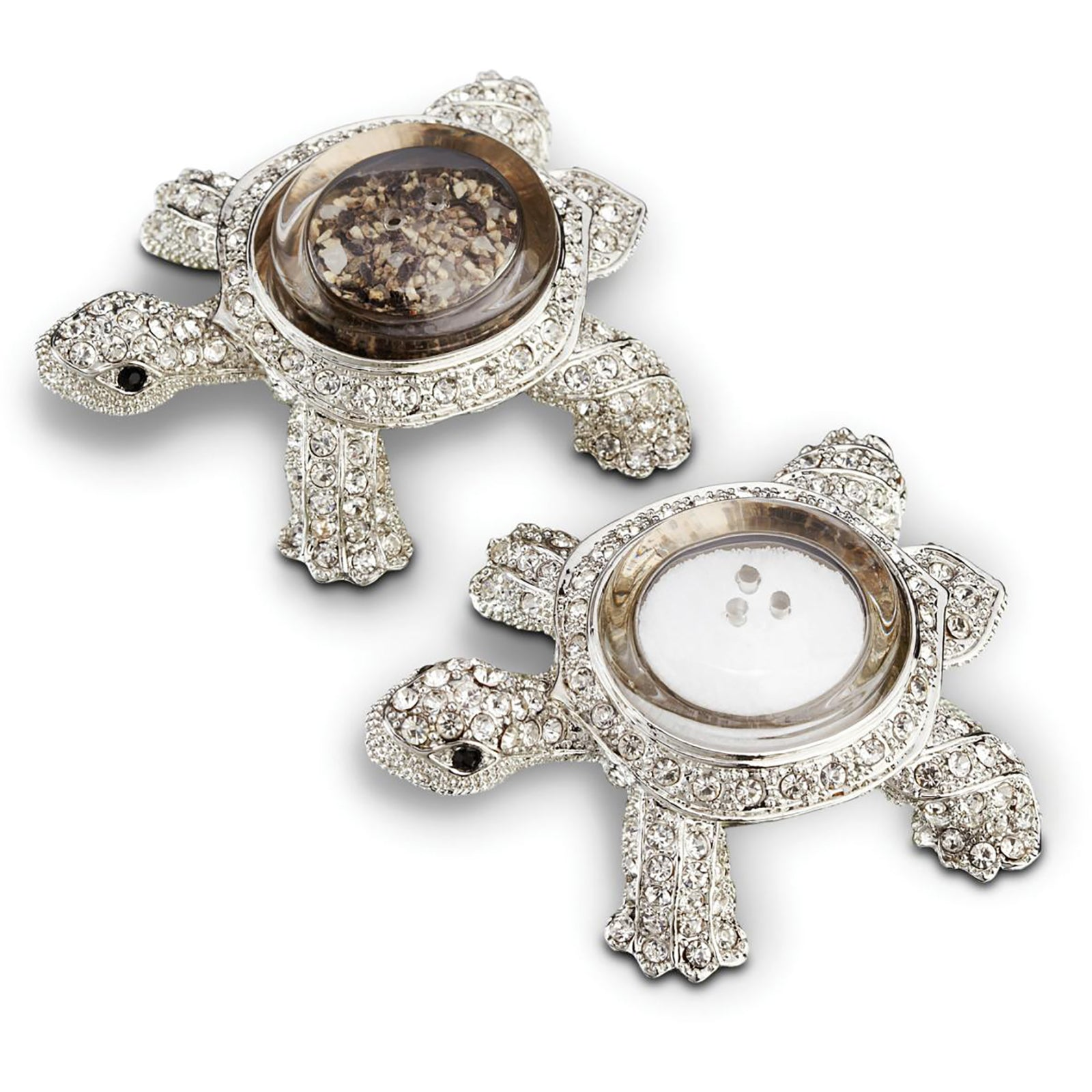 Platinum Turtle Salt & Pepper Set