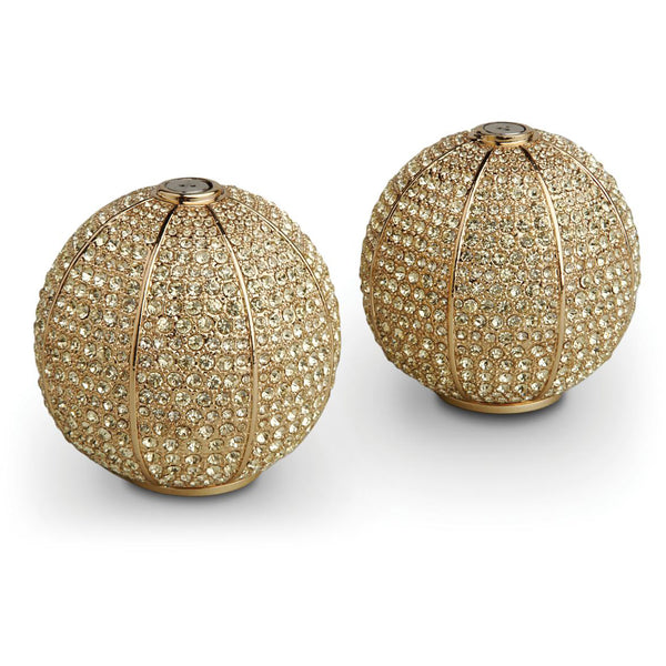 Gold Pave Sphere Salt & Pepper Set