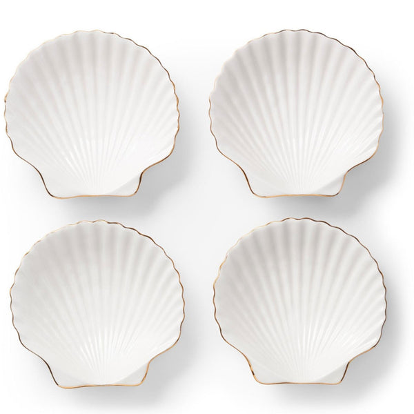 Shell Set of 4 Appetiser Plates AERIN Shell Set of 4 Appetiser Plates