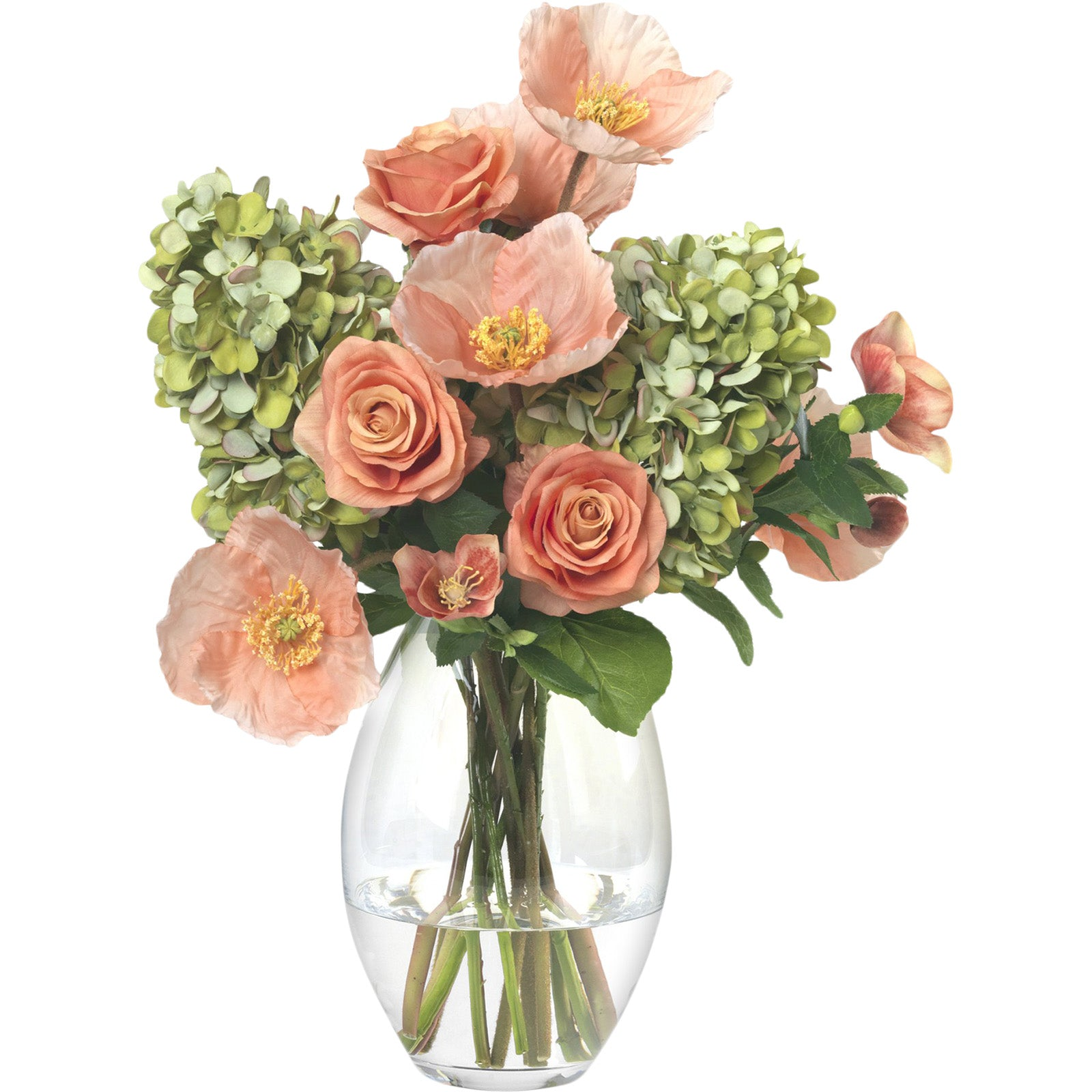 Salmon Poppy & Rose Bouquet