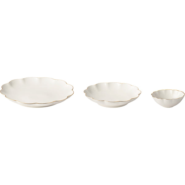 Set of 3 Scalloped Nesting Serving Dishes AERIN Set of 3 Scalloped Nesting Serving Dishes