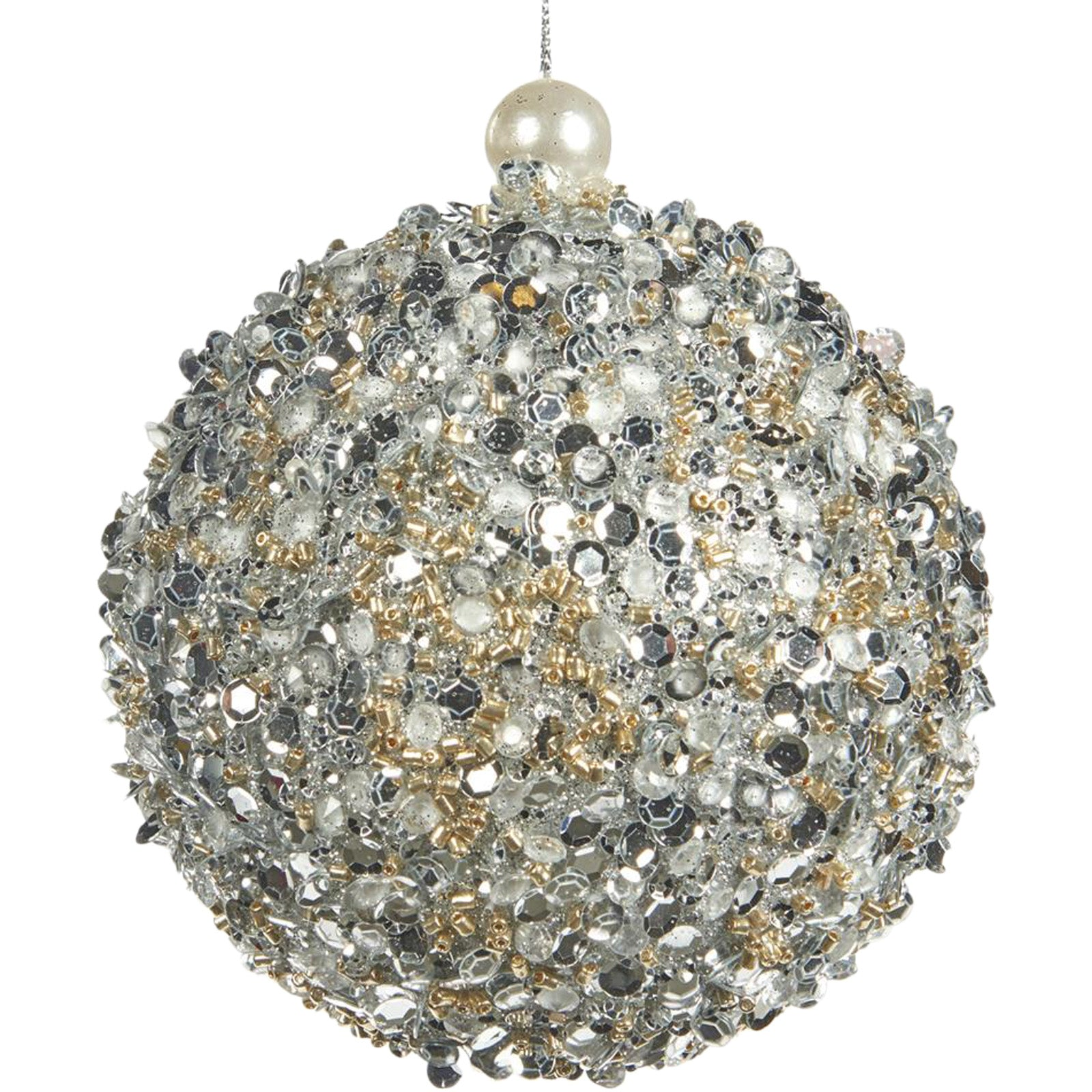 Sequin & Pearl Bauble