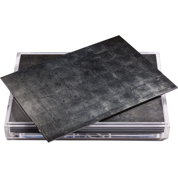 Servebox Silver Leaf Grand Placemats Posh Trading Company Servebox Silver Leaf Grand Placemats