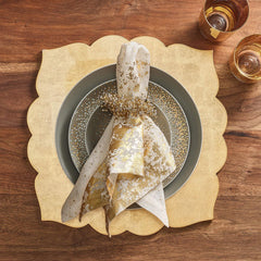 Set of 4 Gold Metafoil Napkins Kim Seybert Set of 4 Gold Metafoil Napkins