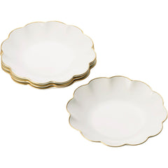 Set of 4 Scalloped Appetizer Plates AERIN Set of 4 Scalloped Appetizer Plates