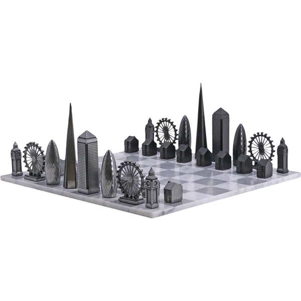 Premium Metal London Chess Set Skyline Chess Premium Metal London Chess Set
