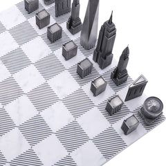 Premium Metal New York Chess Set Skyline Chess Premium Metal New York Chess Set