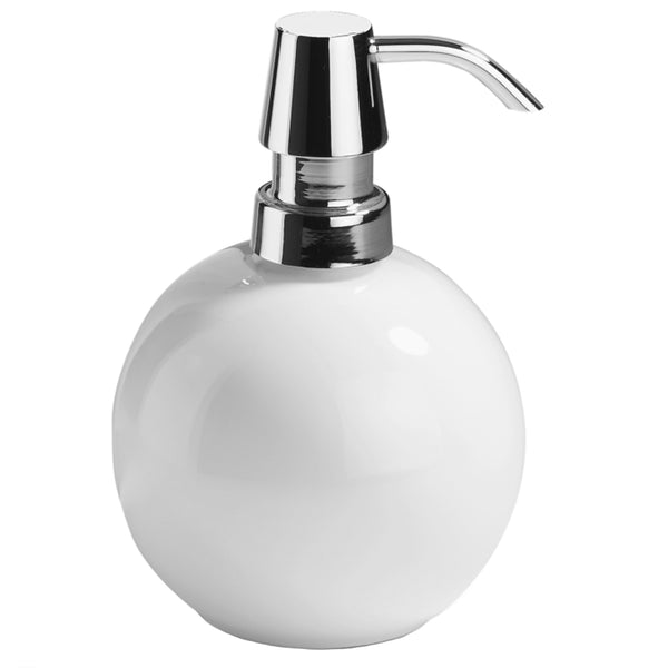 Soap Dispenser White Chrome