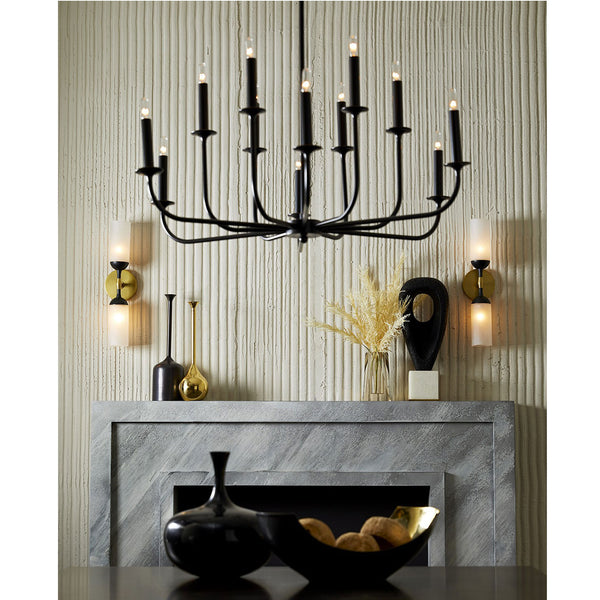 Swain Centerpiece Black Arteriors Swain Centerpiece Black