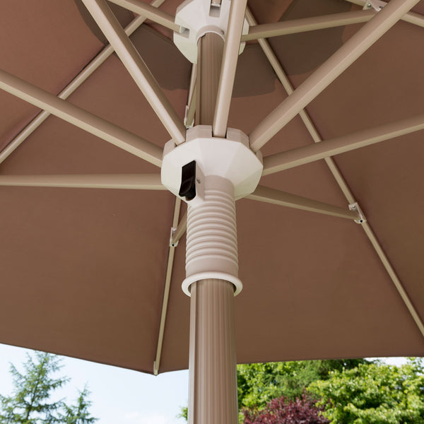 Telescopic Parasol with Base LuxDeco Telescopic Parasol with Base