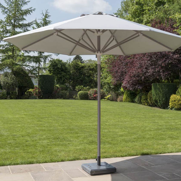 Telescopic Parasol with Base LuxDeco grey