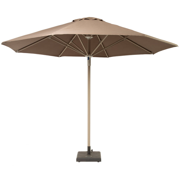 Telescopic Parasol with Base LuxDeco taupe