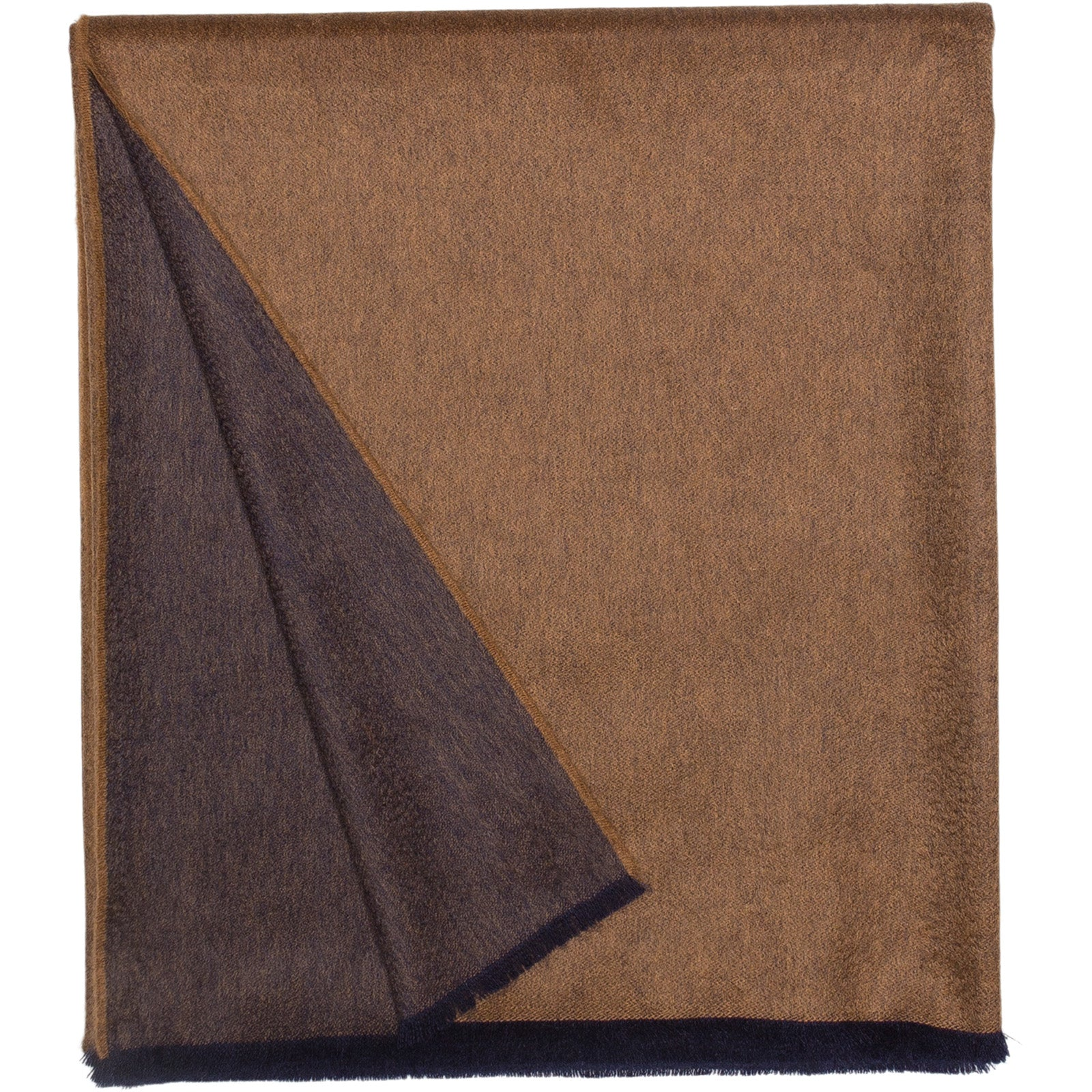 Vale Reversible Lambswool Cashmere Throw Vicuna Navy