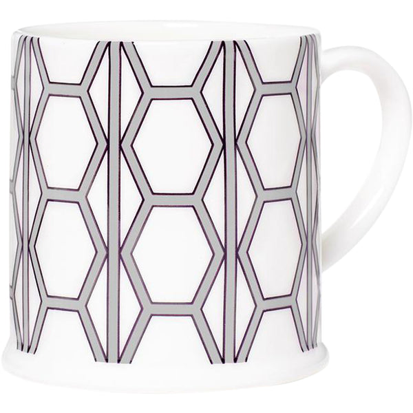 Hex White & Grey Espresso Cup