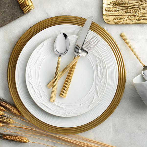 Wheat Gold 5 Piece Flatware Set Michael Aram Wheat Gold 5 Piece Flatware Set