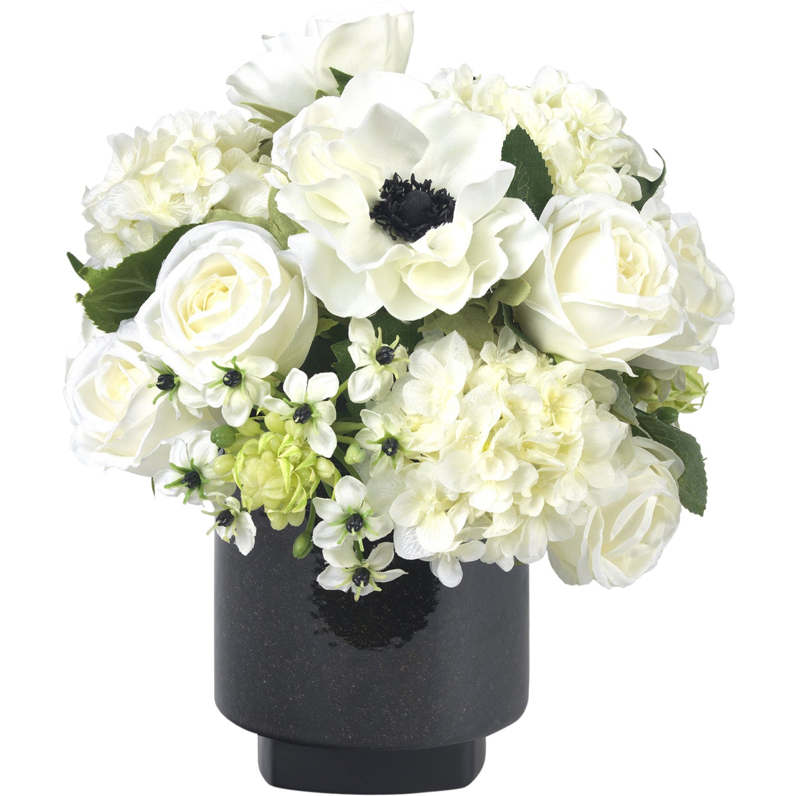 White Anemone & Rose Bouquet