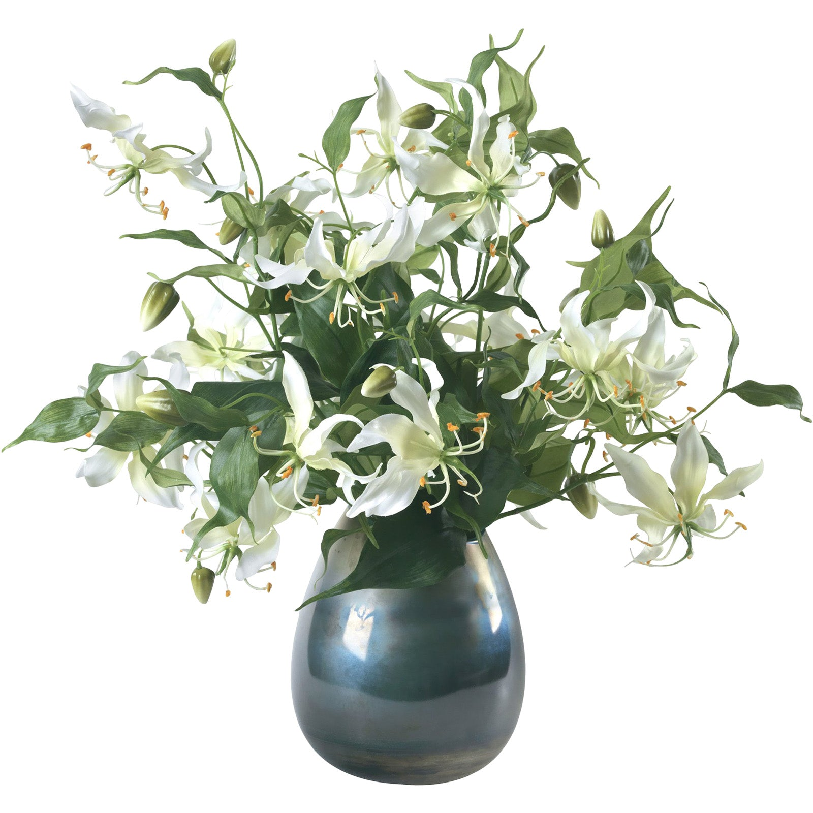 White Gloriosa Lilies Bouquet