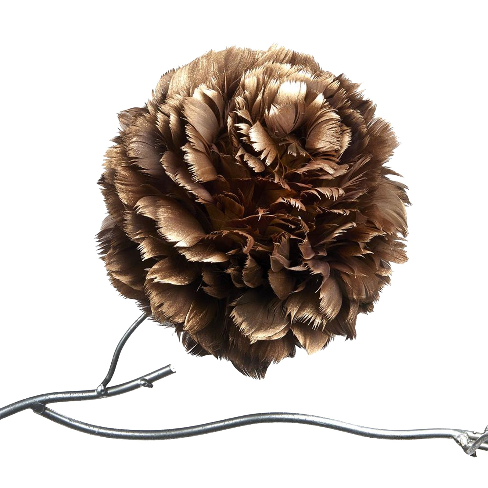 Feather Rose Clip by LuxDeco - Christmas tree decoration - LuxDeco.com