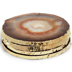 Set of 4 Natural Agate Coasters AERIN Set of 4 Natural Agate Coasters