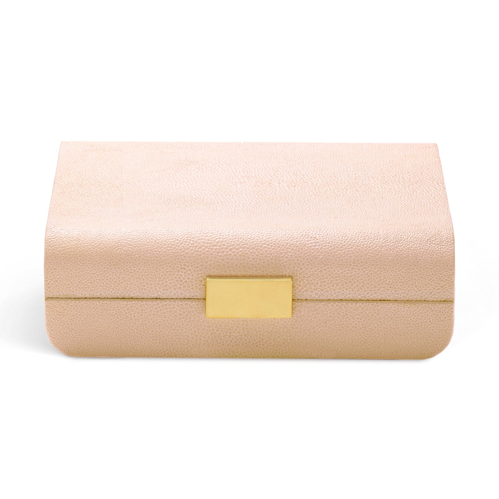 Blush Modern Shagreen Decorative Box by AERIN on LuxDeco.com