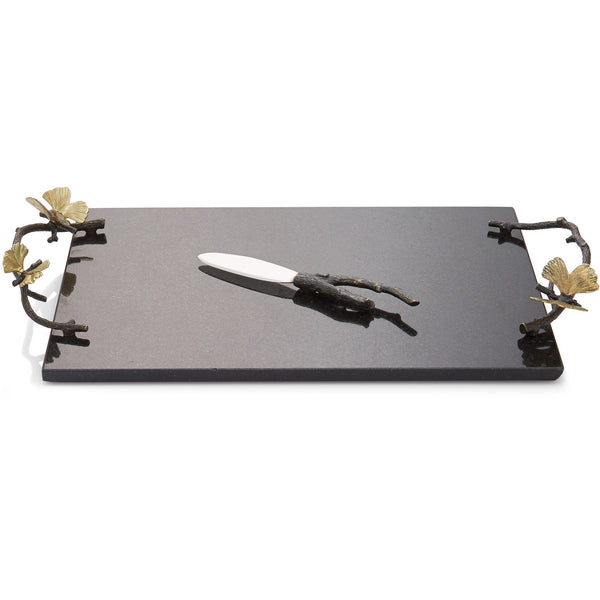 Butterfly Ginkgo Cheese Board with knife Michael Aram Butterfly Ginkgo Cheese Board with knife