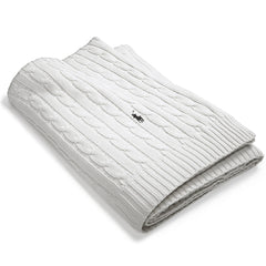 RL Cable Blanket Ralph Lauren White